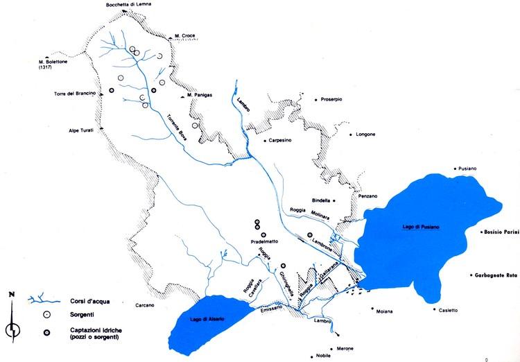 Cartina Lombardia Laghi.Altabrianza Org Territorio I Laghi