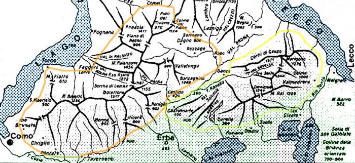 Cartina Geografica Della Brianza.Altabrianza Org Territorio Le Montagne