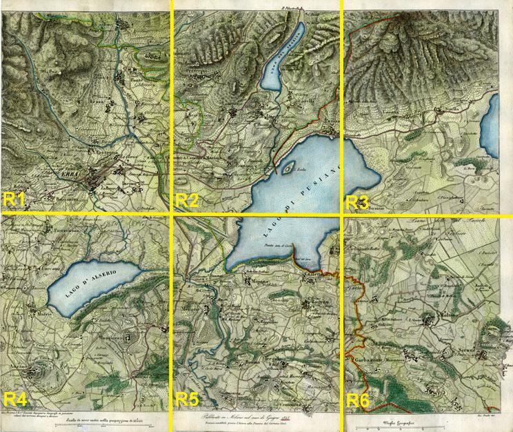 Cartina Geografica Della Brianza.Altabrianza Org Il Territorio Erbese E L Alta Brianza Centrale Nel 1845 Carta Geografica